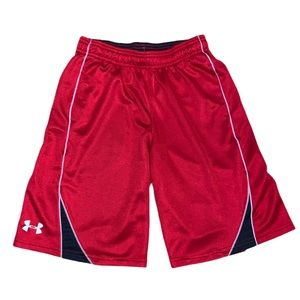 Under Armour Youth Red Athletic Shorts Size Medium